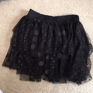 Girls Black Justice Skort Size 12